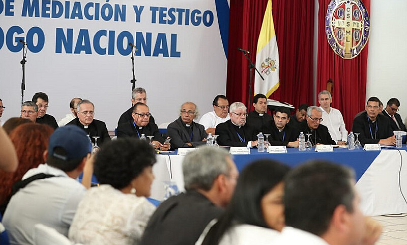 Participam como mediadores e testemunhas os bispos da Conferência Episcopal da Nicarágua (CEN)