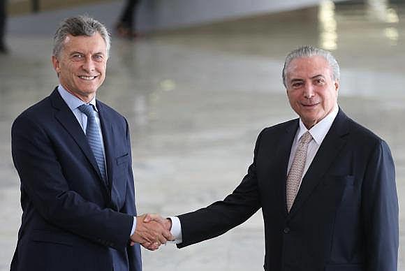 Mauricio Macri é um dos principais aliados de Michel Temer no continente
