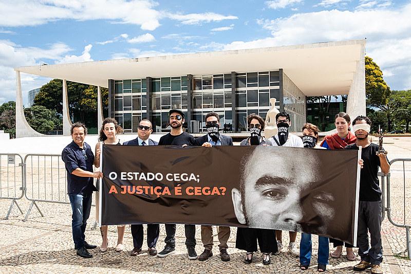 Manifestação em frente ao STF por justiça para Sergio Silva