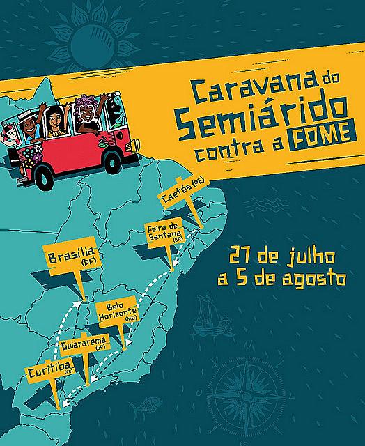 Serão três ônibus que vão cruzar o Brasil para chamar a atenção da sociedade