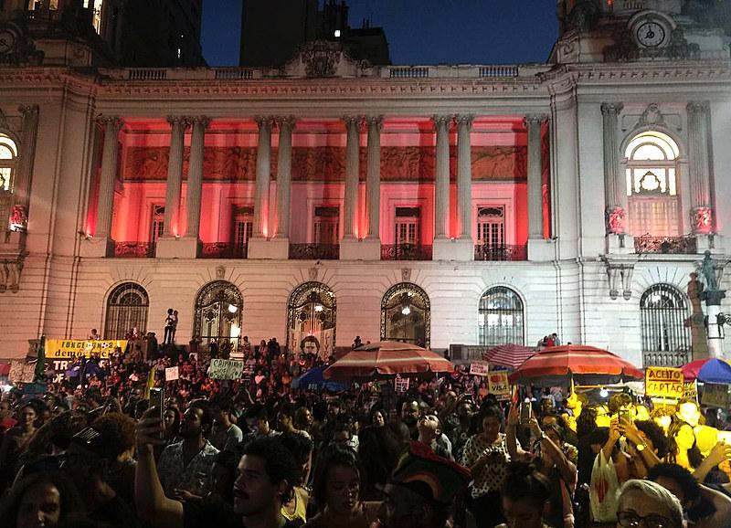"""Segunda edição do Festival """"Todo Mundo Tem Direitos"""" aconteceu em frente a Câmera de Vereadores do Rio de Janeiro nesta segunda (10)"""