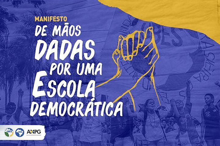 """""""Não existe Estado democrático sem escola democrática"""", diz o texto da carta"""
