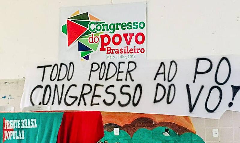 Cartaz da reunião preparatória do Congresso do Povo realizada em Sergipe
