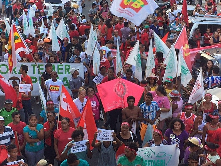 Ato é uma resposta da classe trabalhadora contra o governo golpista de Michel Temer