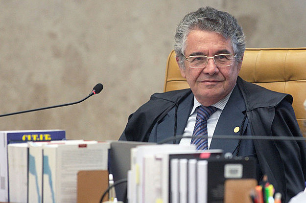 Ministro Marco Aurélio Mello durante sessão do Supremo Tribunal Federal