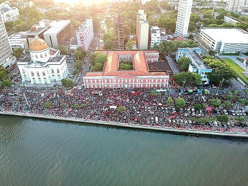 No Recife, o ato tem concentração marcada às 15h, na rua da Aurora, em frente ao Colégio Ginásio Pernambucano, no centro da cidade
