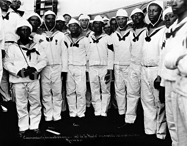 Pesquisadores afirmam que a maior parte da Marinha brasileira era composta de homens negros
