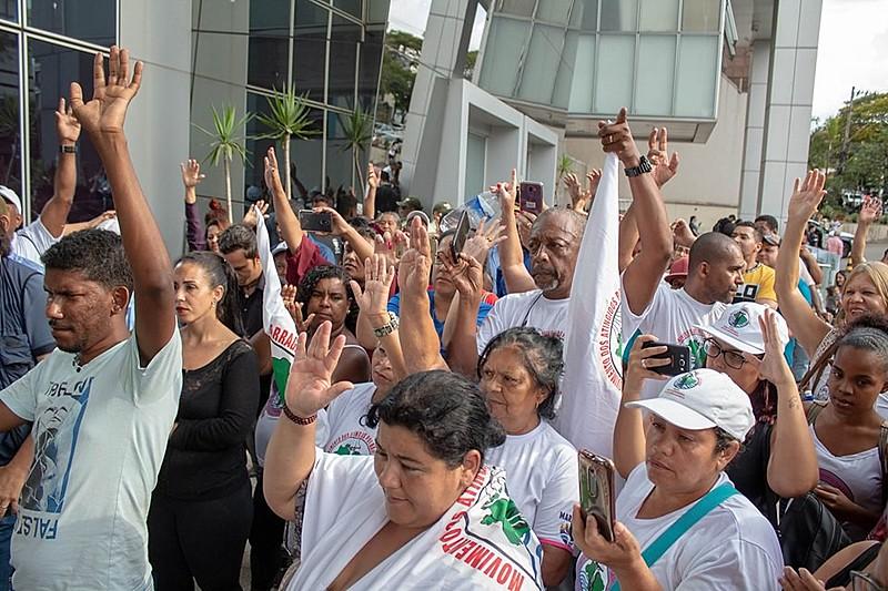Movimentos realizam ato em Brumadinho, nos nove meses do crime da Vale