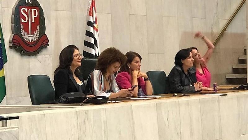 Deputadas ocuparam mesa da presidência
