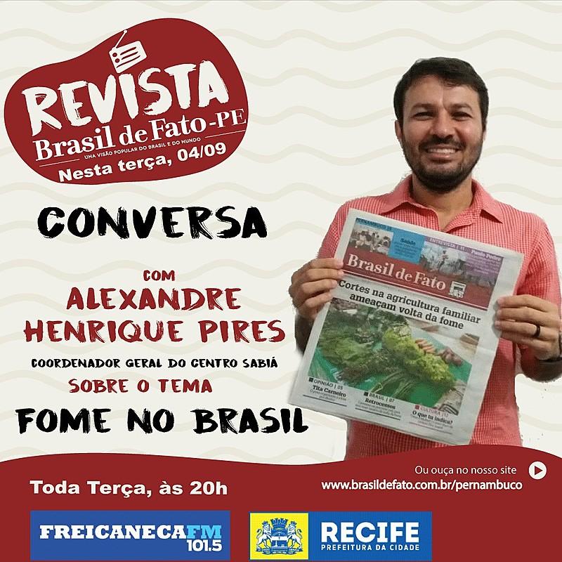 Alexandre Henrique Pires é ativista pela Agroecologia e Convivência com o Semiárido