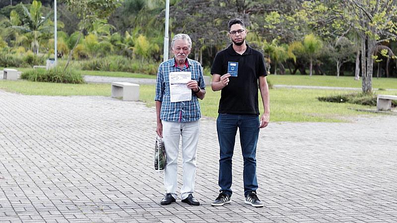 Francisco e Fábio vão juntos a manifestações e atos políticos desde a greve histórica da USP, em 1987