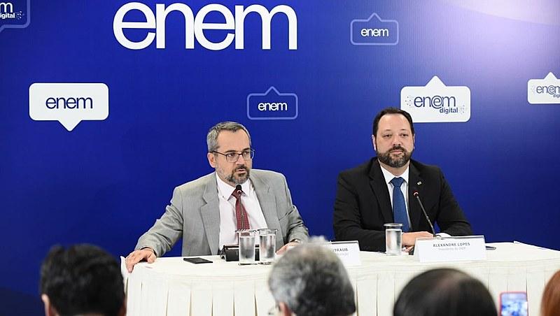Erros foram apontados nas redes sociais pouco tempo após o ministro da Educação, Abraham Weintraub, afirmar que o exame foi um sucesso