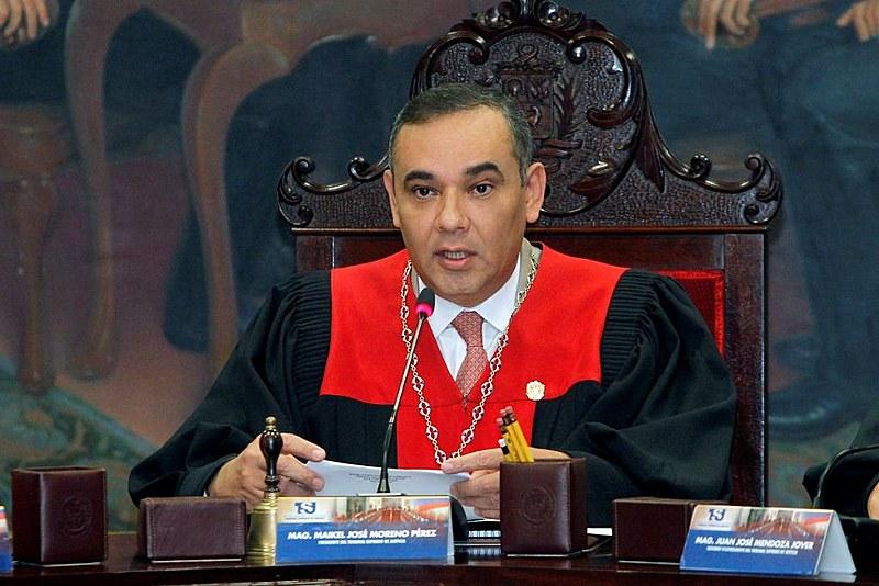 O presidente do Tribunal Supremode Justiça, Maikel Moreno