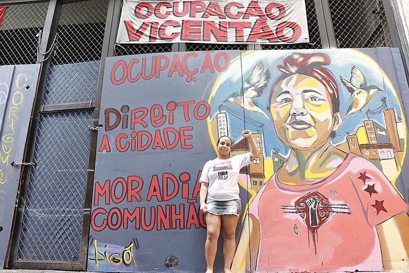"""""""Eu conheci meus direitos e vim em luta pela minha moradia e dignidade"""", diz moradora Catiana Silva"""