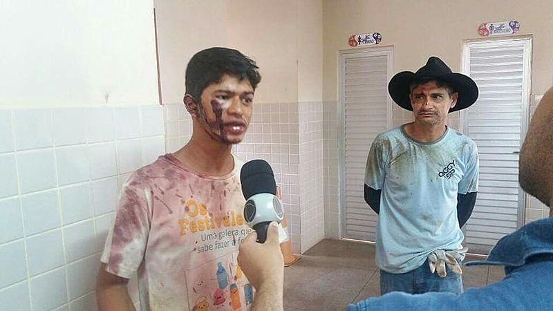 Thiago Santos, 23 anos, filho do produtor rural, agredito pelos seguranças da Vale S/A