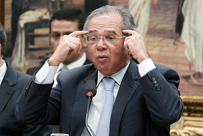 Ministro da Economia, Paulo Guedes, durante audiência na Câmara dos Deputados