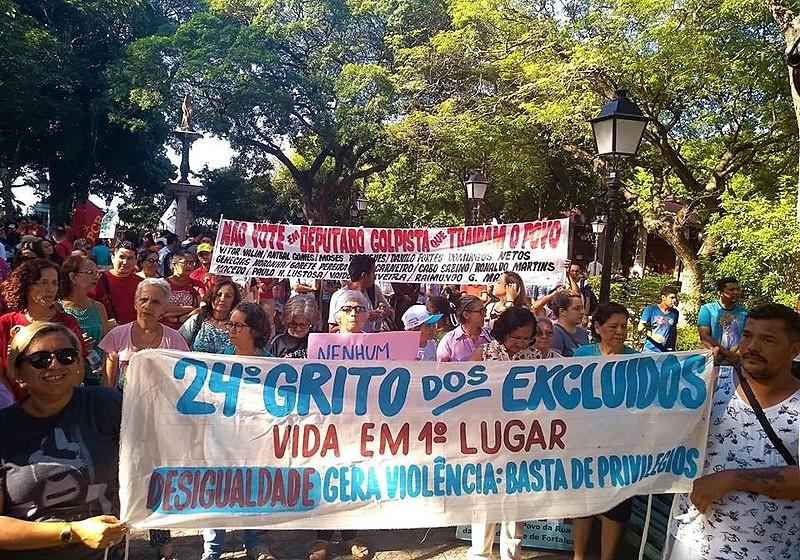 Em Fortaleza, o Grito dos Excluídos será realizado na Praia do Futuro, com concentração a partir das 8h, na escola Frei Tito de Alencar.