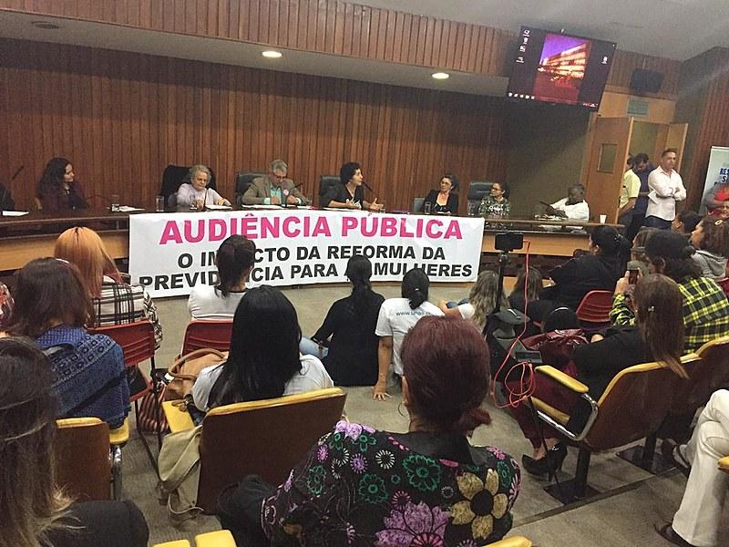 Discussão sobre impacto da reforma para as mulheres aconteceu nesta segunda (27) na Assembleia Legislativa de São Paulo (Alesp)