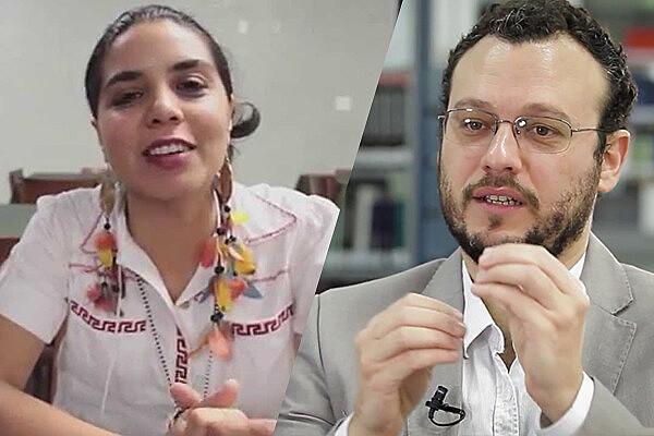 Cozinheira Tainá Marajoara e professor da UFABC Salomão Ximenes, entrevistados do programa