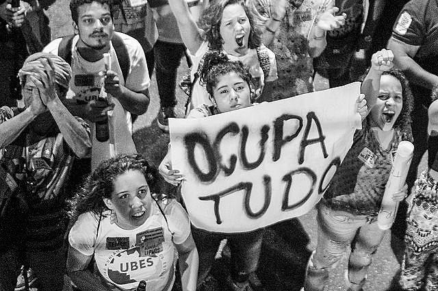 Protesta contra la PEC 55, en Rio de Janeiro, el viernes pasado (25)