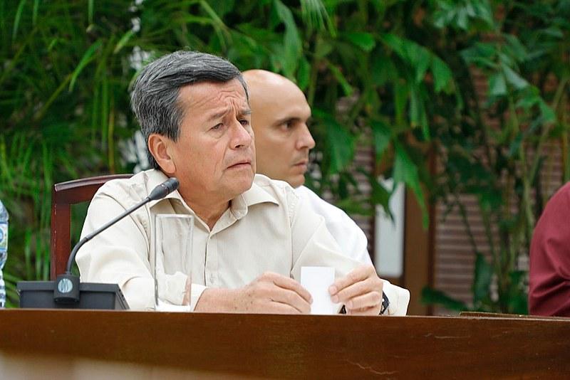 Intervenção de Pablo Beltrán, do ELN, durante coletiva de imprensa realizada hoje em Havana sobre a retomada dos diálogos de Paz