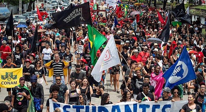 No Recife, manifestação ocorreu no bairro Derby, região central da capital pernambucana