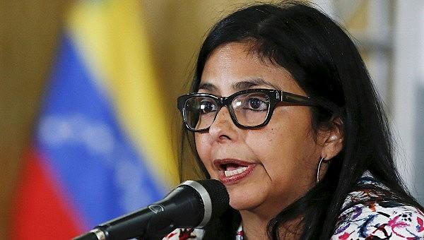 A chanceler venezuelana, Delcy Rodríguez; país anunciou que assumirá presidência do Mercosul