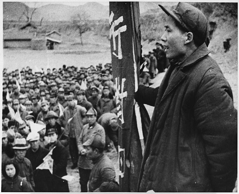 Jovem Mao Tsé-Tung, liderança da revolução chinesa