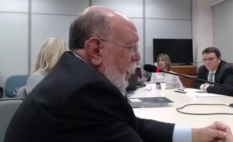 Ex-presidente da OAS, Léo Pinheiro, durante depoimento em Curitiba (PR)