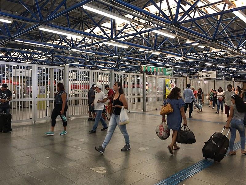 Estação Palmeiras - Barra Funda, uma das mais movimentadas da capital paulista esteve o dia todo fechada