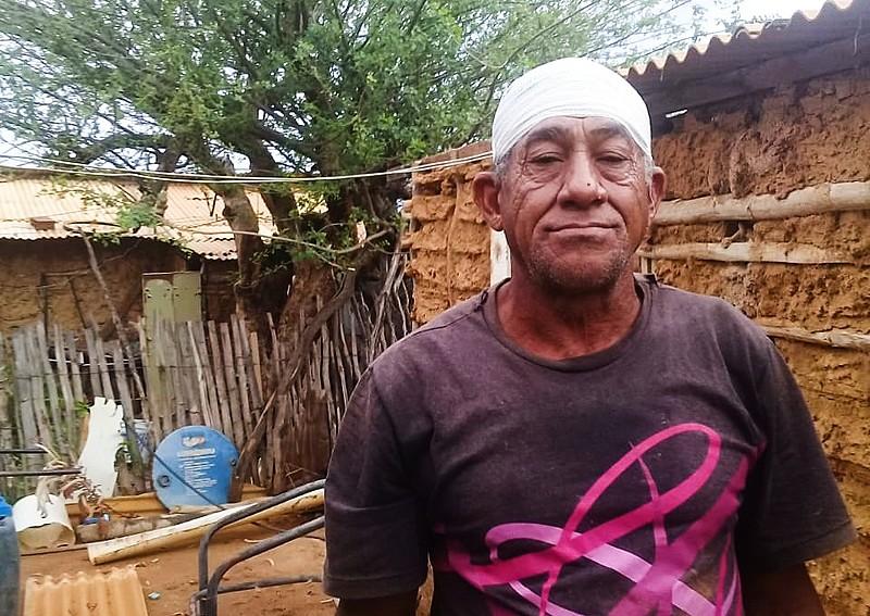 Laurindo Pereira da Silva, conhecido como seu Pepeu, foi atingido por bala de borracha durante ação violenta de despejo