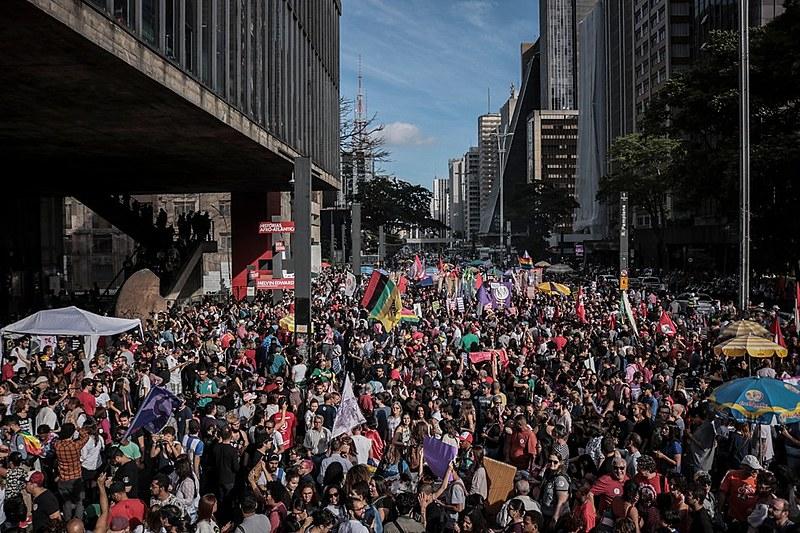 Ato #BolsonaroNão no MASP em São Paulo (SP), reuniu mais de 50 mil pessoas