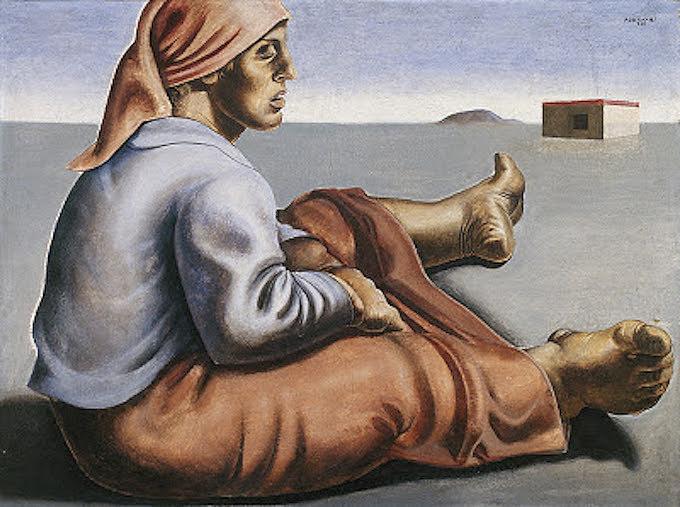 Colona sentada, de Portinari - 1935.