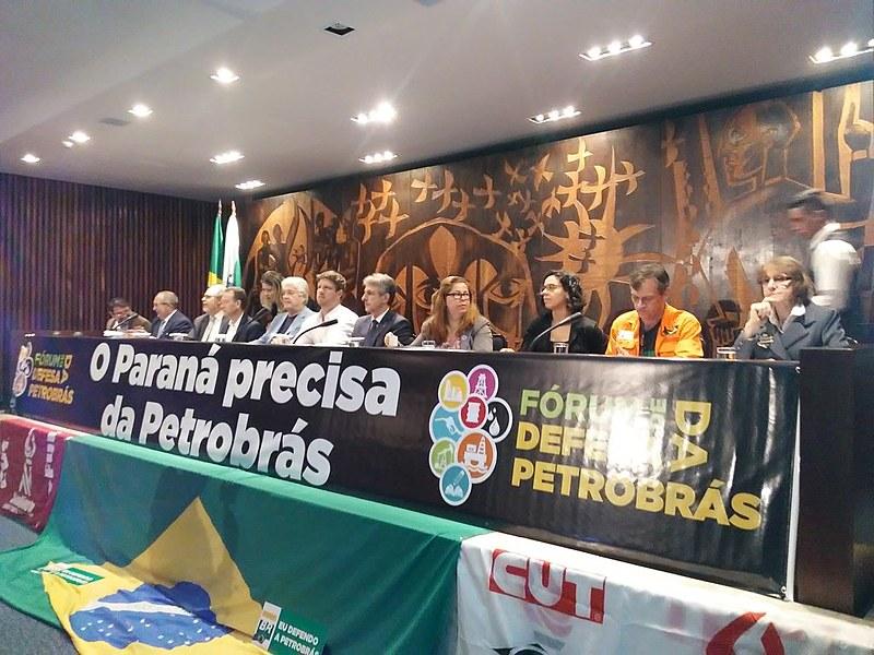 Um Comitê Permanente contra a privatização da Petrobrás foi criado ao final da audiência